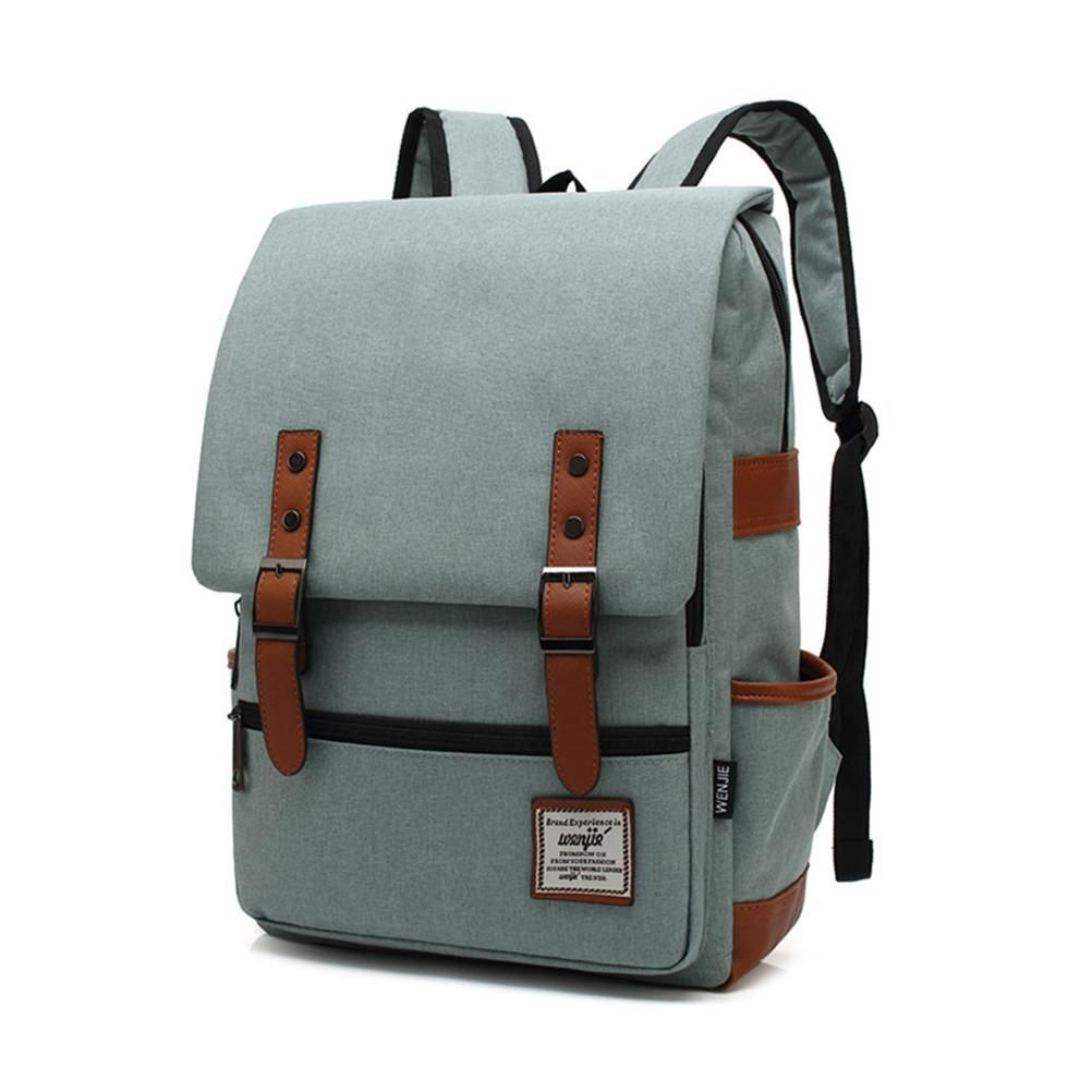 e445be9d62af Canvas Vintage Backpack Travel Backpack Daypack Hiking Camping School  Rucksack for Women Men