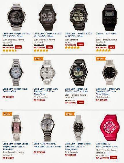 Daftar Harga Jam Tangan Casio Terbaru  26d61b358d