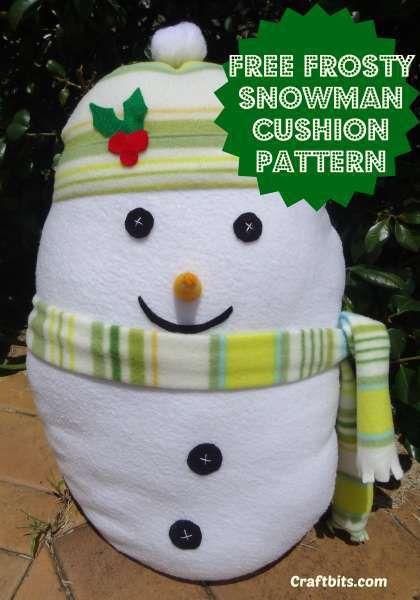 Christmas Snowman Sewing Pattern | Kissen nähen, Schneemann und Kissen