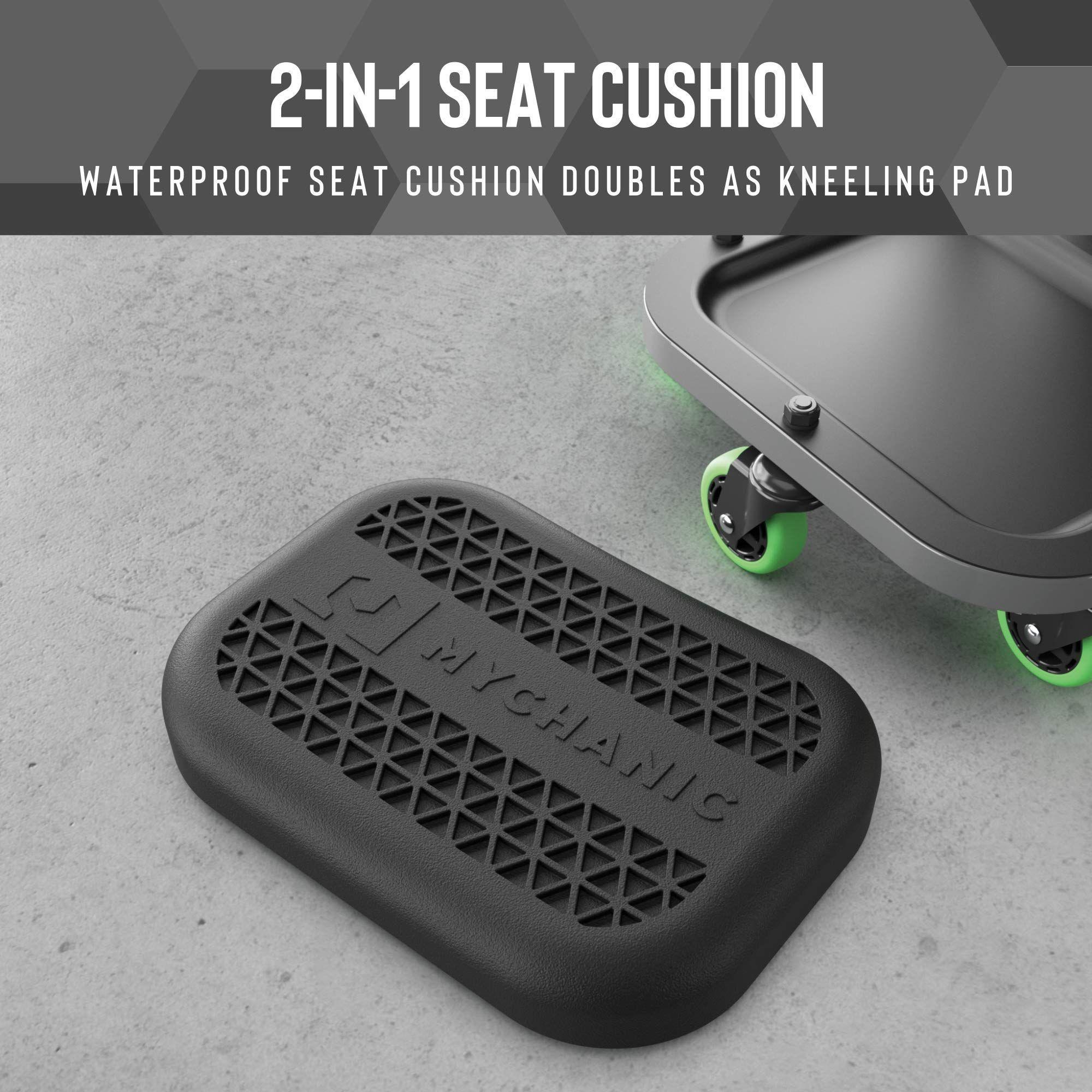 Mychanic Detailing Rig Car Wash Organizer Heavy Duty Rolling Seat With Wash Bucket And Grit Trap Ad Car Sponsored W Car Wash Kneeling Pad Car Detailing