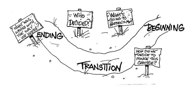 transition is the psychological process towards change: (1