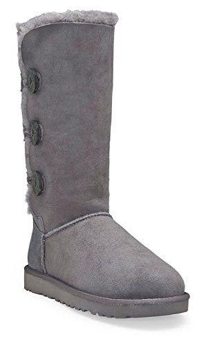 ugg australia women s bailey button triplet boots footwear grey size rh pinterest co uk