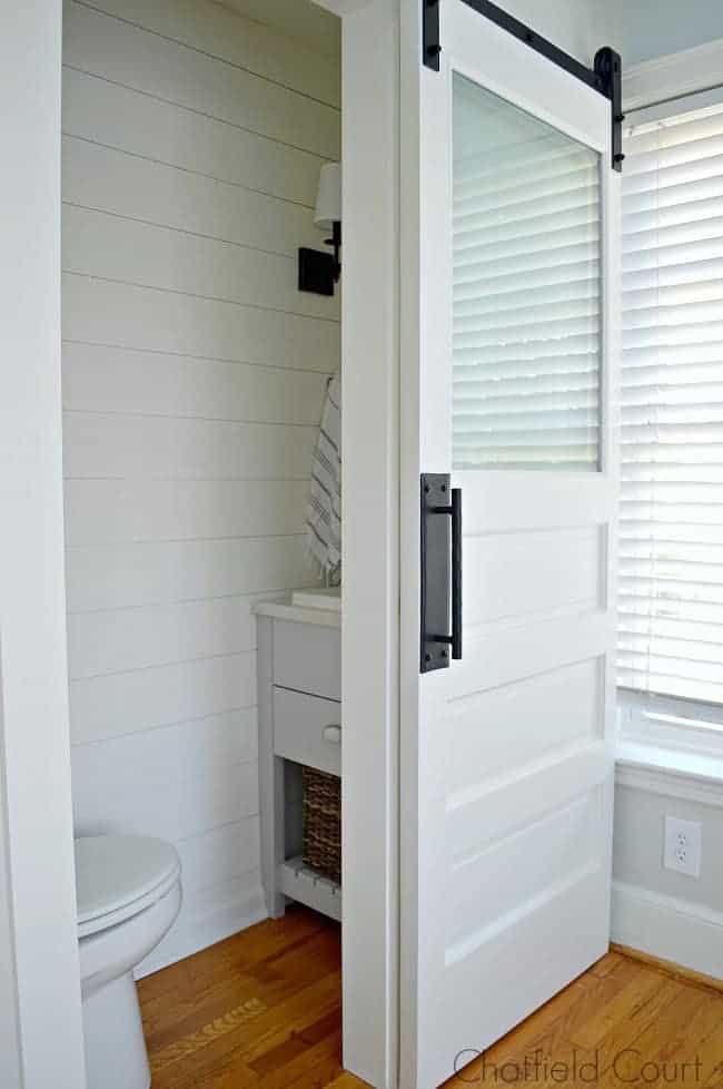Small Powder Room Reveal Closet bedroom, Guest bathrooms