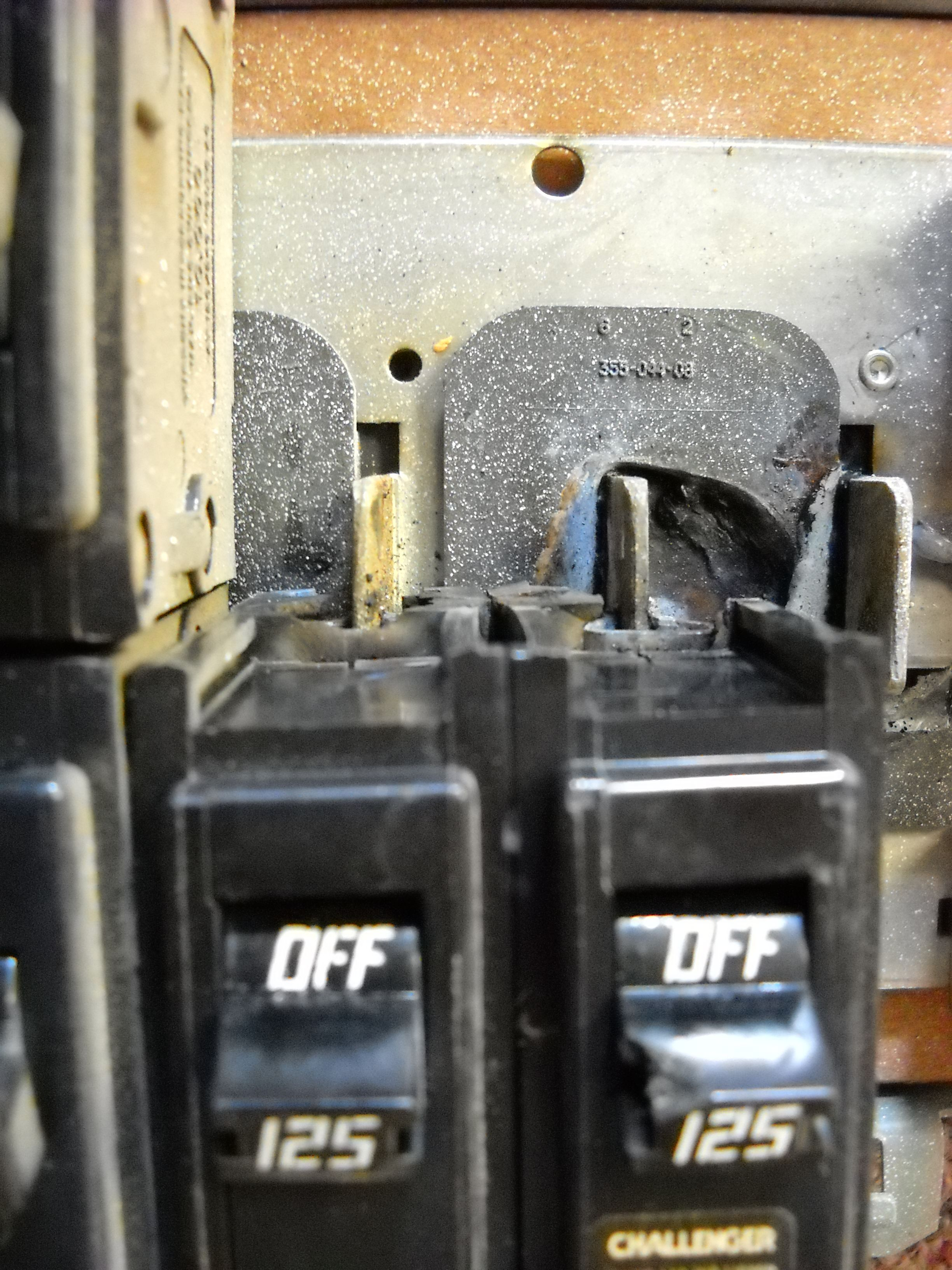 This Is A Breaker That Was Burnt In The Back Electrician
