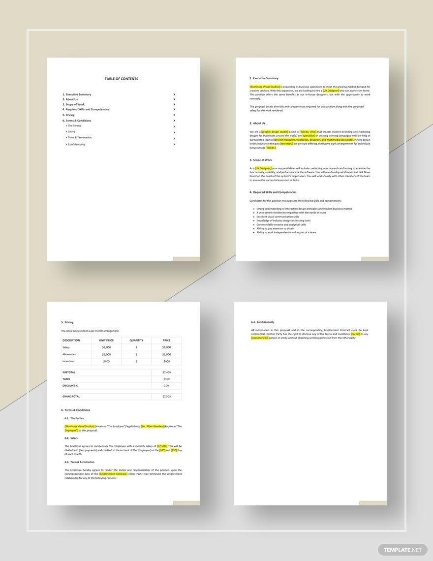 Professional Work From Home Proposal Template Free Pdf Google Docs Word Apple Pages Template Net Proposal Templates Freelance Graphic Design Web Design Proposal Work from home proposal template