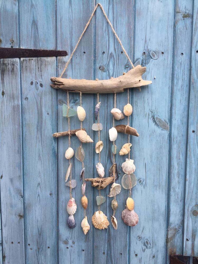 Nautical Driftwood, Seaglass & Mixed Shell Windchime    eBay