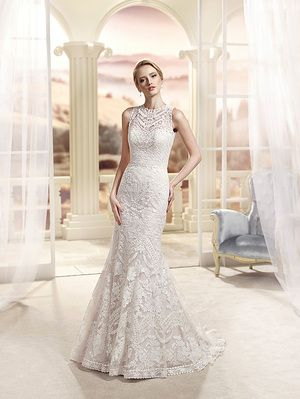Bellethemagazine wedding dresses | Eddy K Collection | Floor Champagne Mermaid / Trumpet Illusion $$$ ($2,001-3,000)