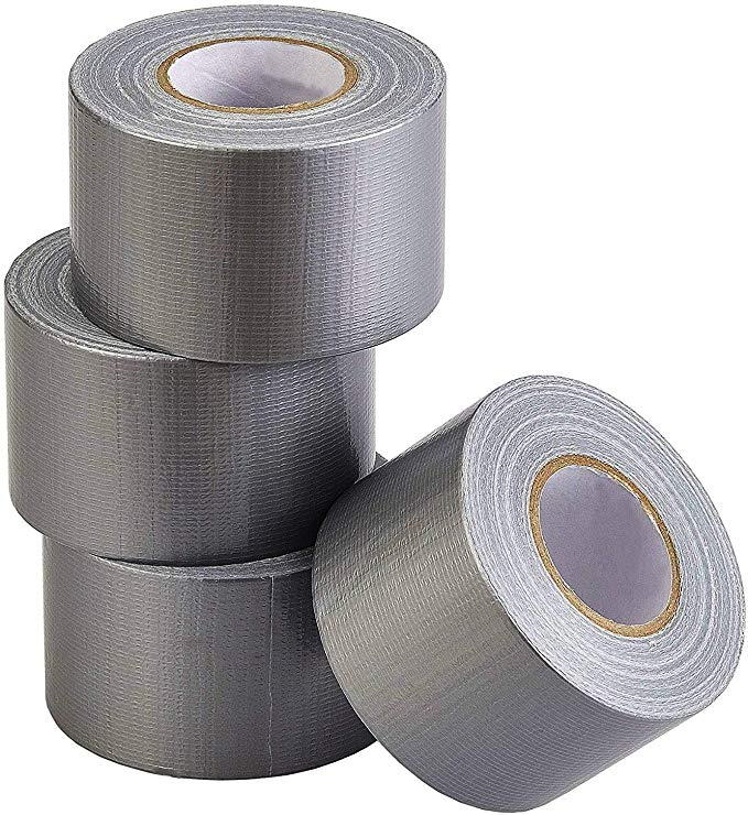 Amazon Com Lichamp Heavy Duty Silver Duct Tape Bulk Multi Pack Travel Duct Tape Small Roll 2 Inch X 27 Yards X 4 Rolls 108 Silver Duct Tape Duct Tape Tape