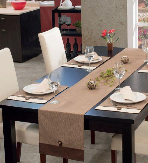 Camino de mesa avellana e individuales haciendo juego manteles delantales repasadores - Individuales para mesa ...