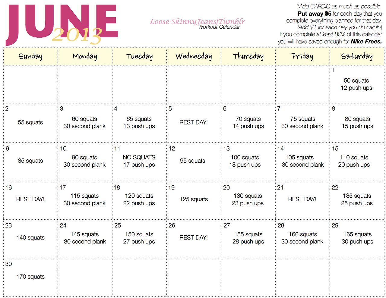 Squats Push Ups Planks Workout Challenge Month Workout Challenge 30 Day Workout Challenge