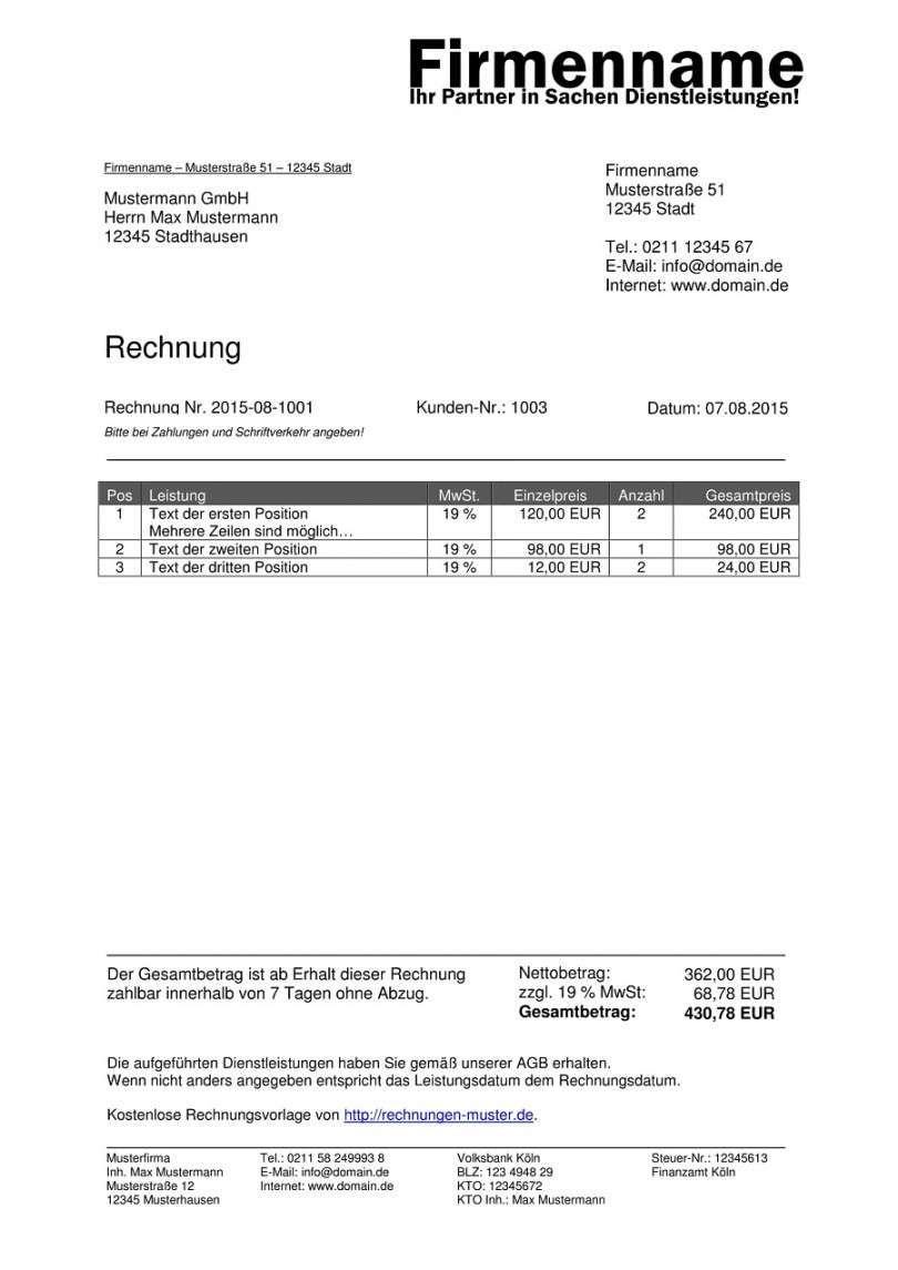 Gegenwart Privatrechnung Ohne Mwst Vorlage In 2020 Rechnung Vorlage Rechnungsvorlage Vorlagen Word