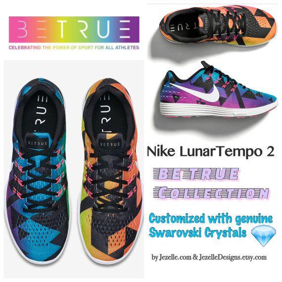 Bling Nike LunarTempo 2 Be True by JezelleDesigns  6dea1497fddf