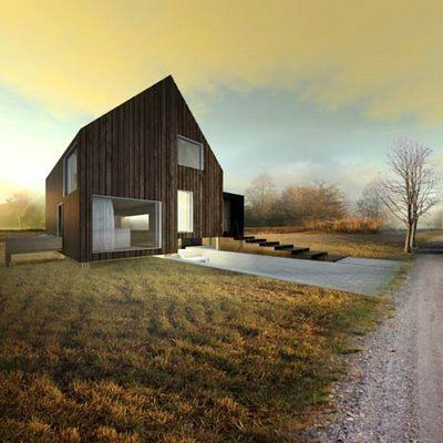 Arquitectura Arkinetia Blog: Ondrej and Josef Chybik architects - Casa de madera de bajo consumo