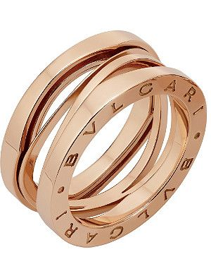 f38b5126d20 BVLGARI B.zero1 Zaha Hadid three band 18ct pink-gold ring