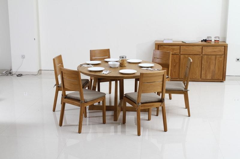 Teak Round Dining Table Teak Dining Tables Teak Dining Chairs Best Teak Furniture In Town Visit Our Showr In 2020 Round Dining Table Teak Dining Table Round Dining