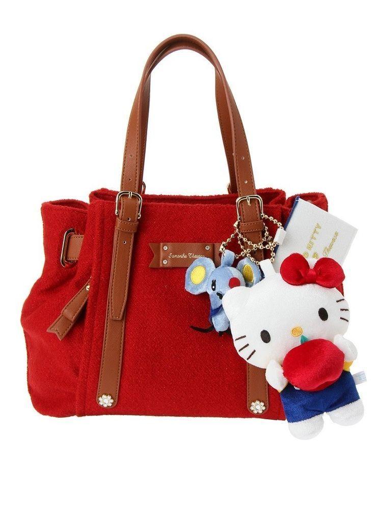 aaf3e2264fc1 Hello Kitty Tote Bag Sanrio Japan Limited rare 40th Anniversary Samantha  Thavasa