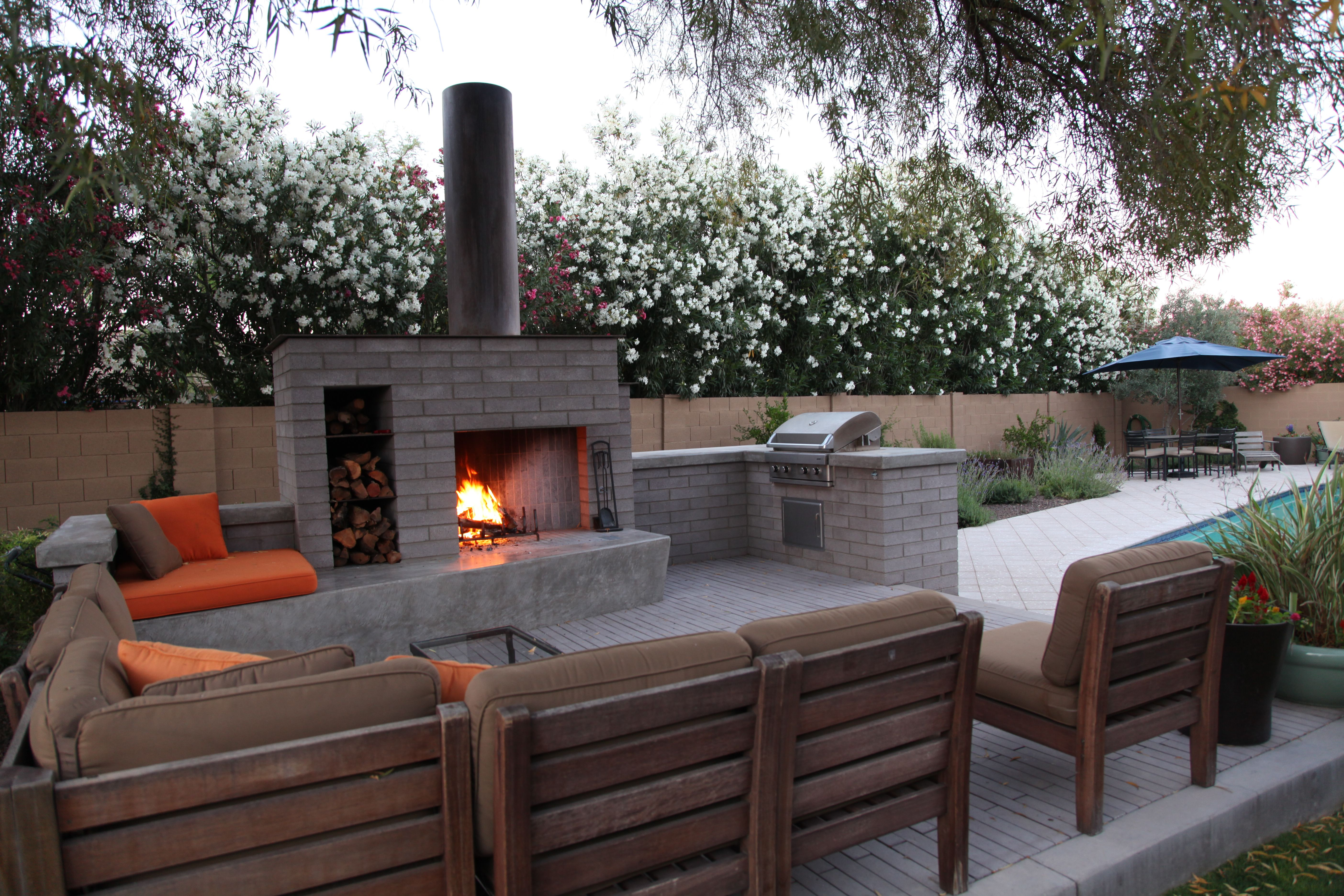 An Outdoor Living Area In Phoenix Is Perfect For Gathering