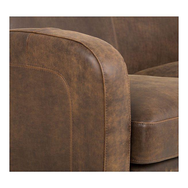 Cuba salon canap d 39 angle r versible en cro te de cuir canap angle fauteuil salon et - Canape croute de cuir ...