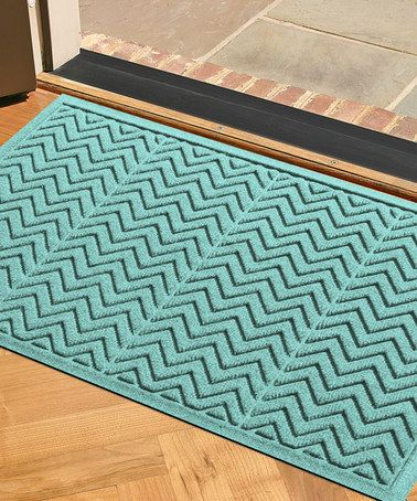 Take a look at this Aquamarine Chevron Aqua Shield Mat on zulily today!