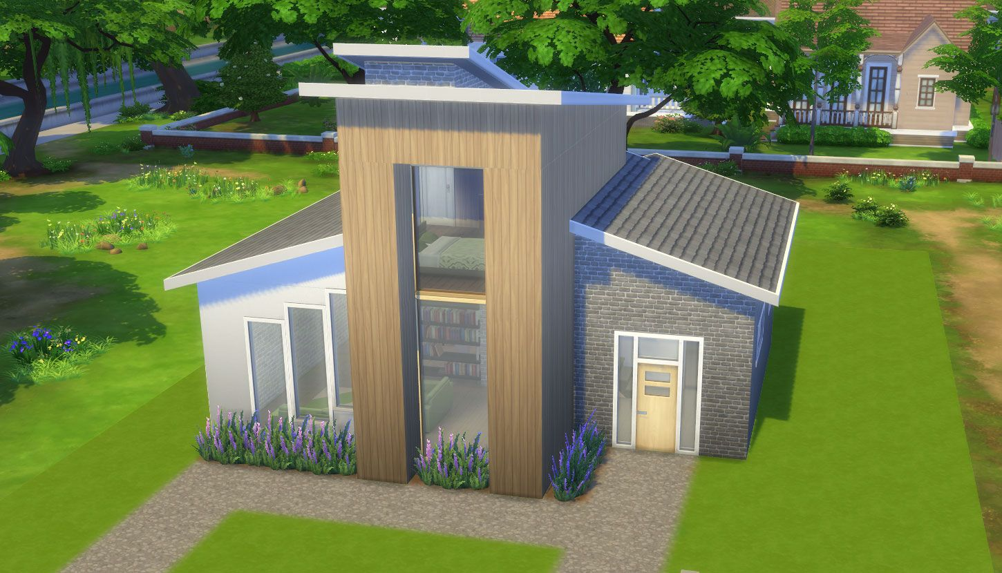 Check out this lot in the sims 4 gallery pinterest for Small starter homes