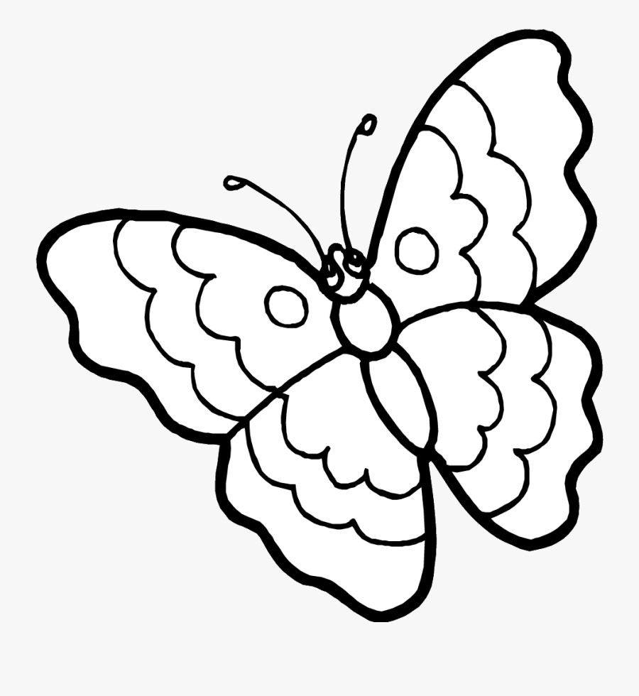 Butterfly Clipart Outline Images Butterfly Coloring Page Kids Coloring Books Coloring Pages For Kids [ 980 x 900 Pixel ]