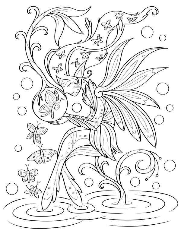Butterflies And Fairies Coloring Page Fairy Coloring Pages Coloring Pages Fairy Coloring