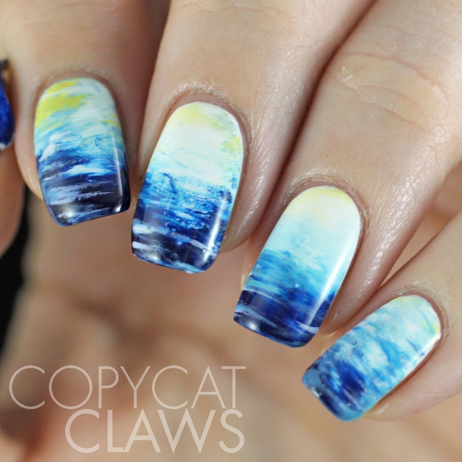 Copycat Claws: The Digit-al Dozen does Nature: Day 3 Fan Brush Ocean ...