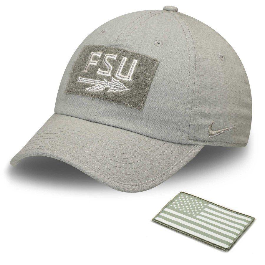 57e61d572534e Florida State Seminoles Nike Tactical Heritage 86 Performance Adjustable Hat  – Olive