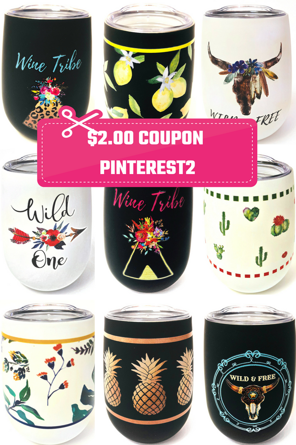 8774d76fc93 Stainless Steel Wine Glasses - Wine Tumblers $2.00 Off Coupon For Any One  Regular Priced Item! CODE: PINTEREST2