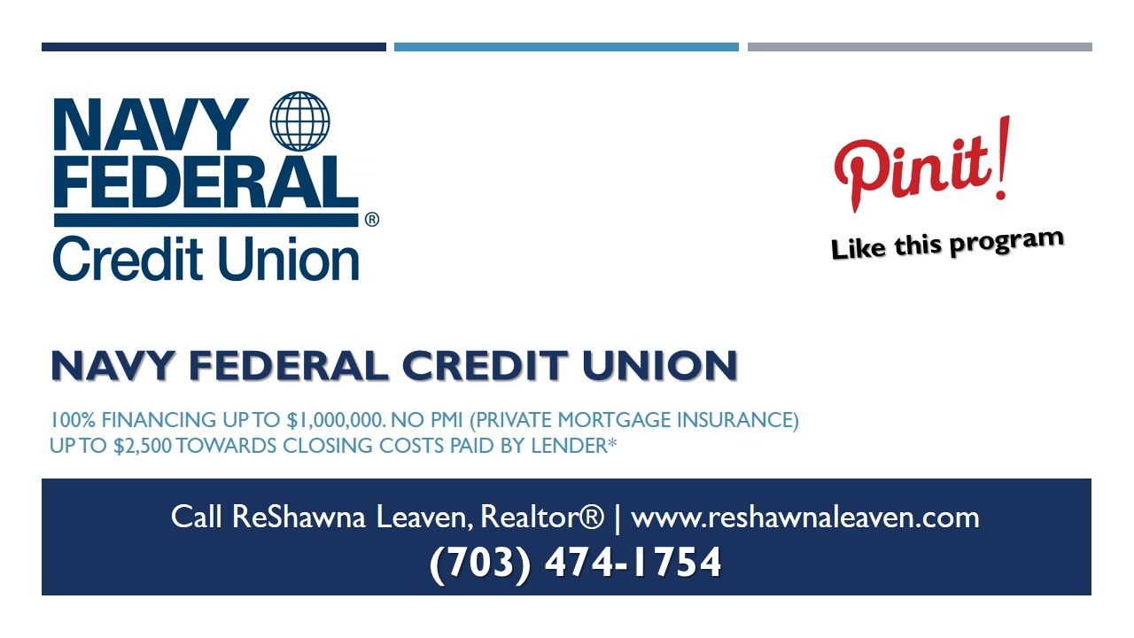 Virginia First Time Home Buyer Programs Navy Federal Credit Union 100 Financing Up To Navy Federal Credit Union Federal Credit Union First Time Home Buyers