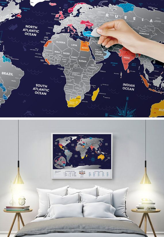 Colourful scratch off world map birthday gift for travellers colourful scratch off world map birthday gift for travellers gumiabroncs Gallery