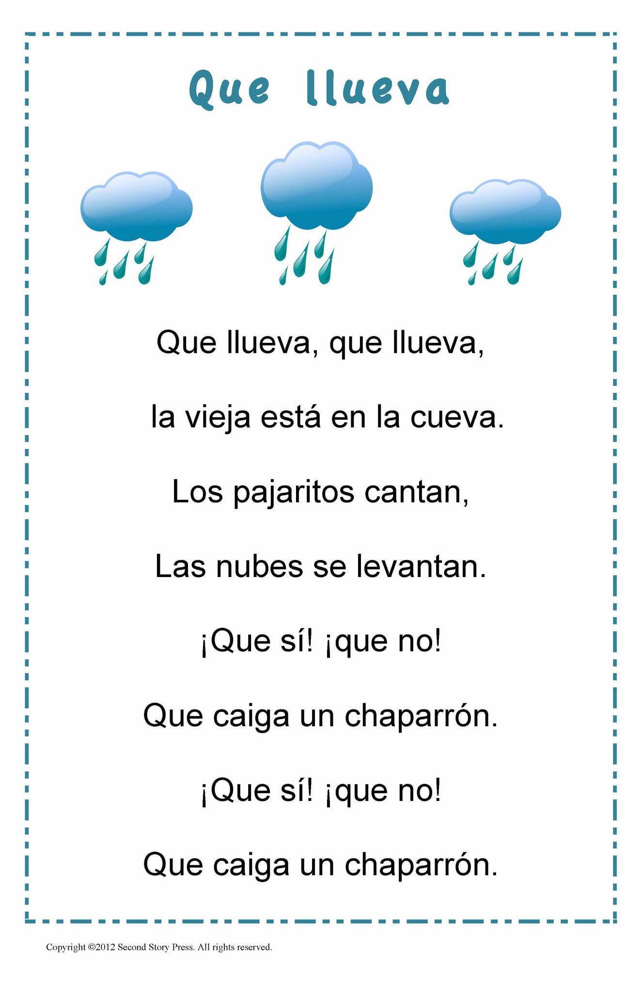 Que Llueva Spanish Songs Learning Spanish For Kids Spanish Kids