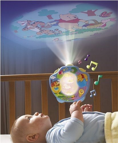 Winnie The Pooh Baby Cot Music Mobile Nursery Night Light Projector Show