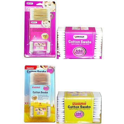 550 Pcs Sanitary Cotton Swab Bud Q Tip Clean Makeup Double Tip Wooden Stick Af 3 Clean Makeup Cotton Swab Cotton Swabs
