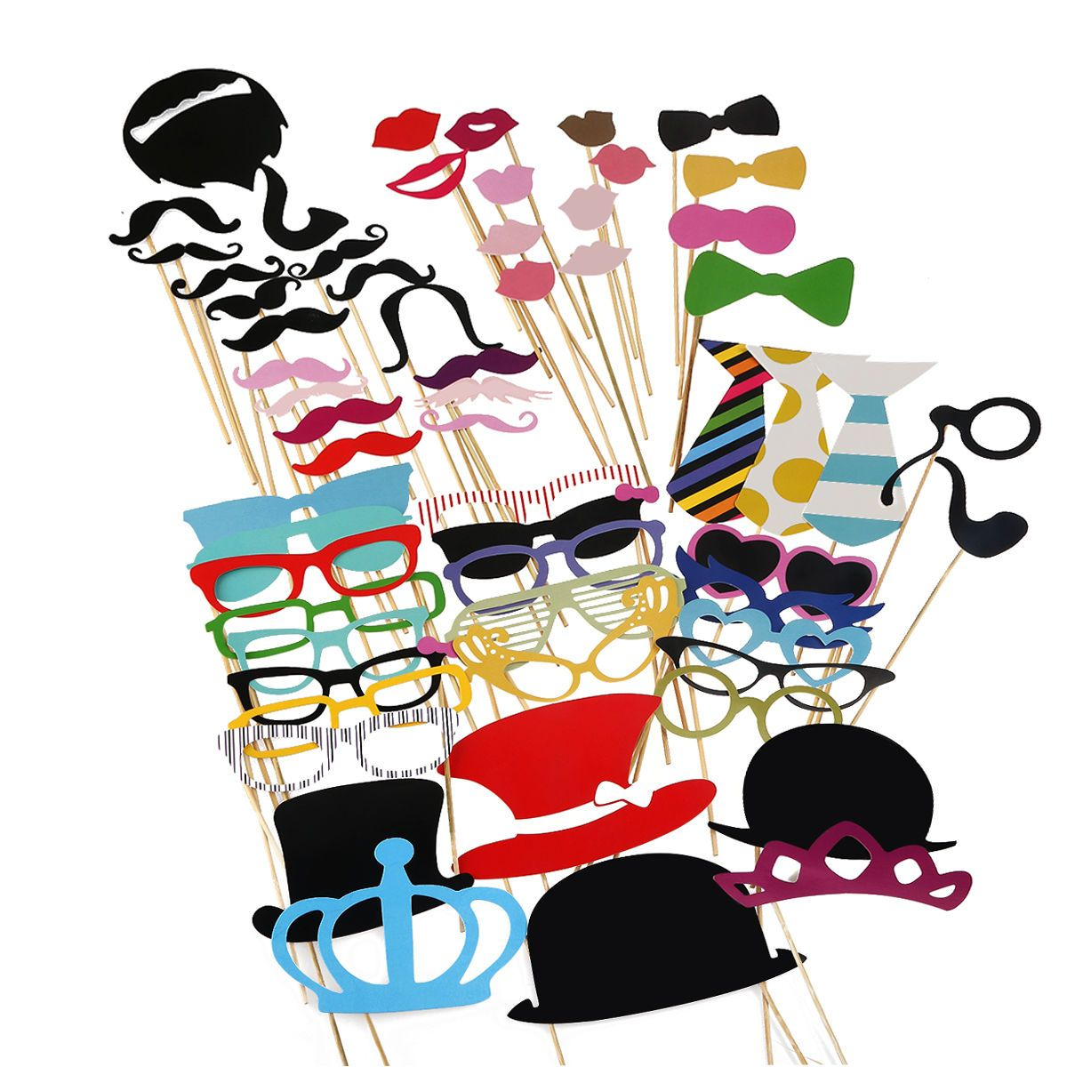 Photobox Party 60 Photo Booth Fotobox Wedding Party Trim Mustache