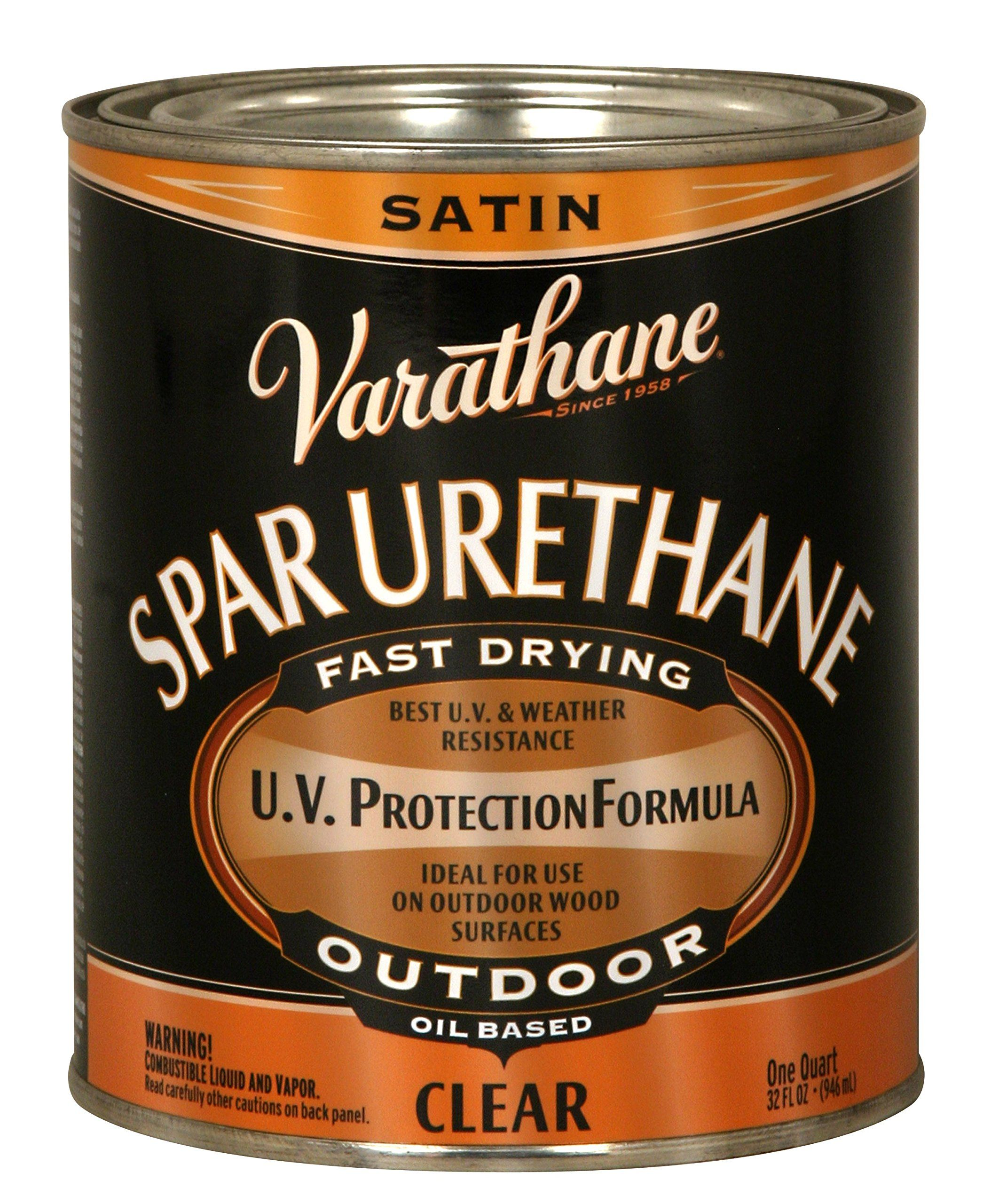 Rust Oleum Varathane 9341h 1 Quart Classic Clear Oil Based Outdoor Spar Urethane Satin Finish Apparently Works With Images Polyurethane Floors Varathane It Is Finished