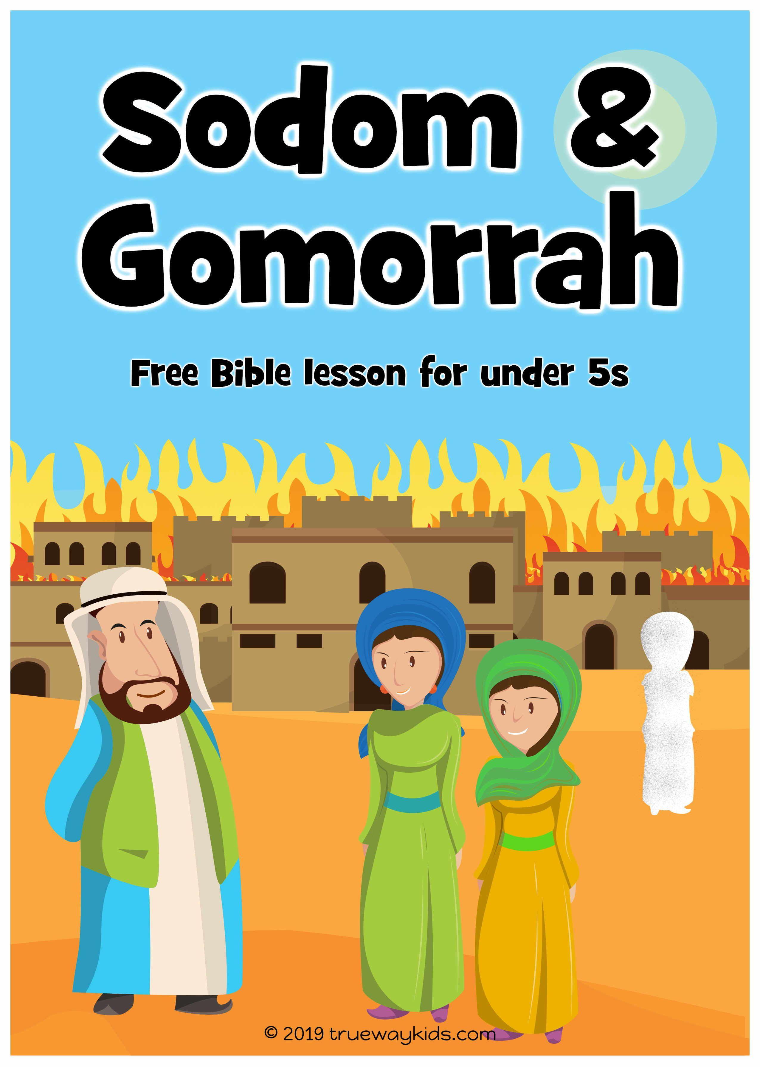 Sodom And Gomorrah Preschool Bible Lesson Free Printable