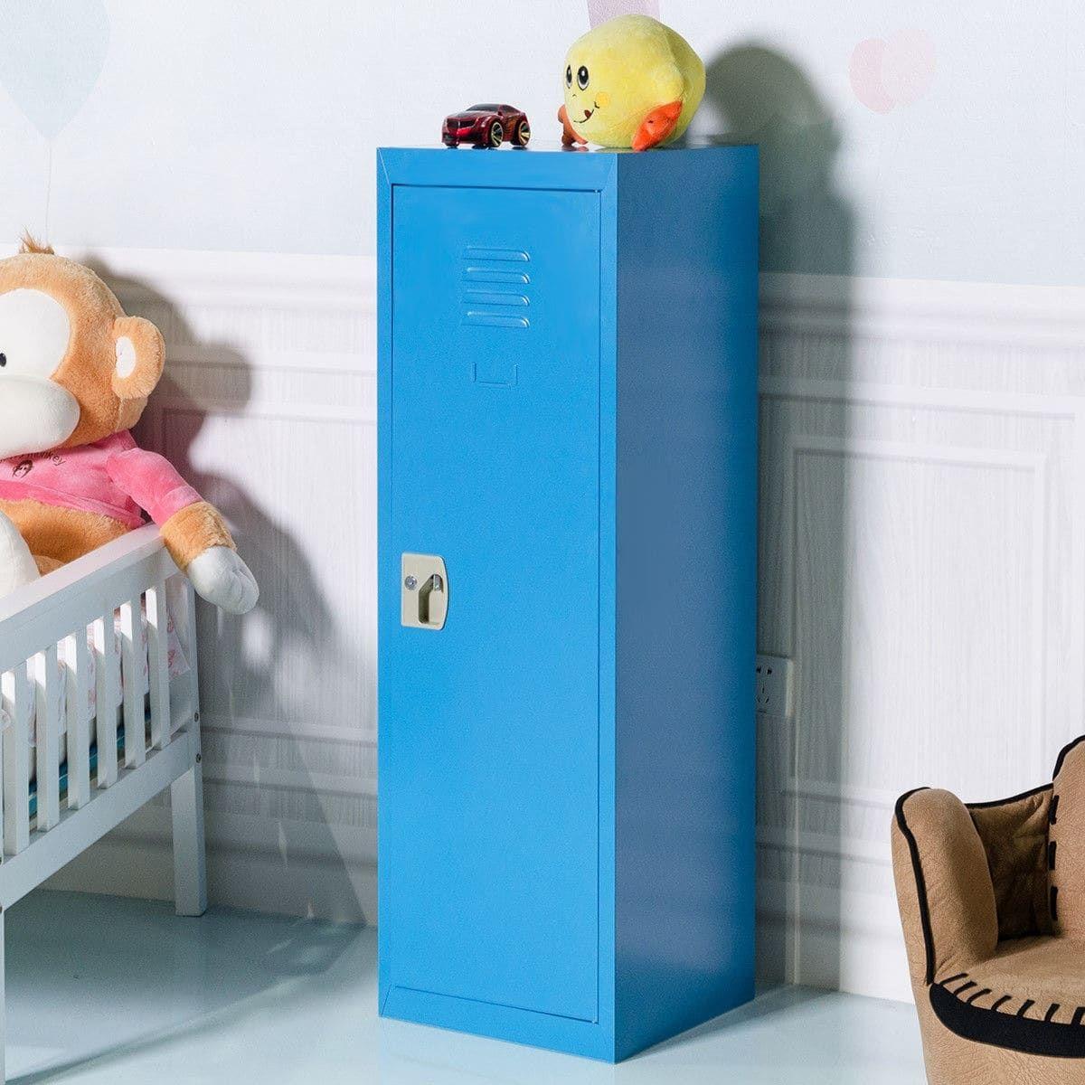 costway 48 kid locker safe storage children single tier metal rh pinterest com