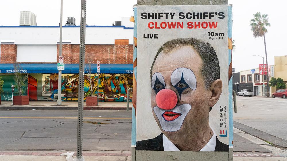 Street Artist Sabo Skewers Adam Schiff, Impeachment