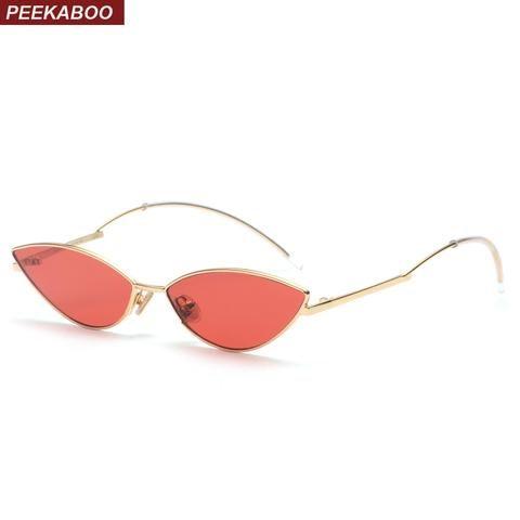 eeb1c3aaff Peekaboo cute sexy retro cat eye sunglasses women small black 2018 red cat  eye sun glasses for women summer accessories uv400