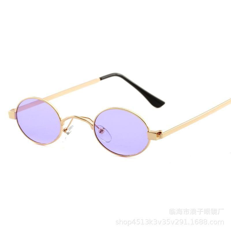 4d47e4476e017 MOLNIYA Fashion Women Round Sunglasses Metal Frame Small Size Oval Sun –  KOREAIDOLFEVER