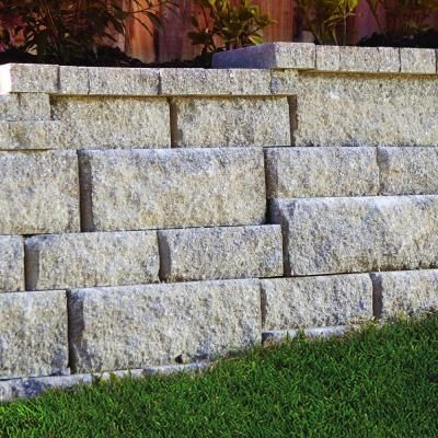 Pavestone Rockwall Small 4 In X 11 75 In X 6 75 In Yukon Concrete Retaining Wall Block 87550 The Home Depot Landscaping Retaining Walls Concrete Retaining Walls Backyard Retaining Walls