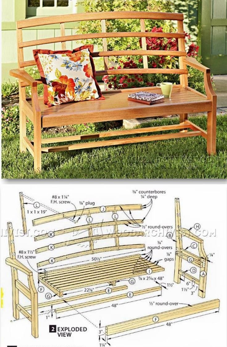 Garden Bench Plans Outdoor Furniture Plans And Projects
