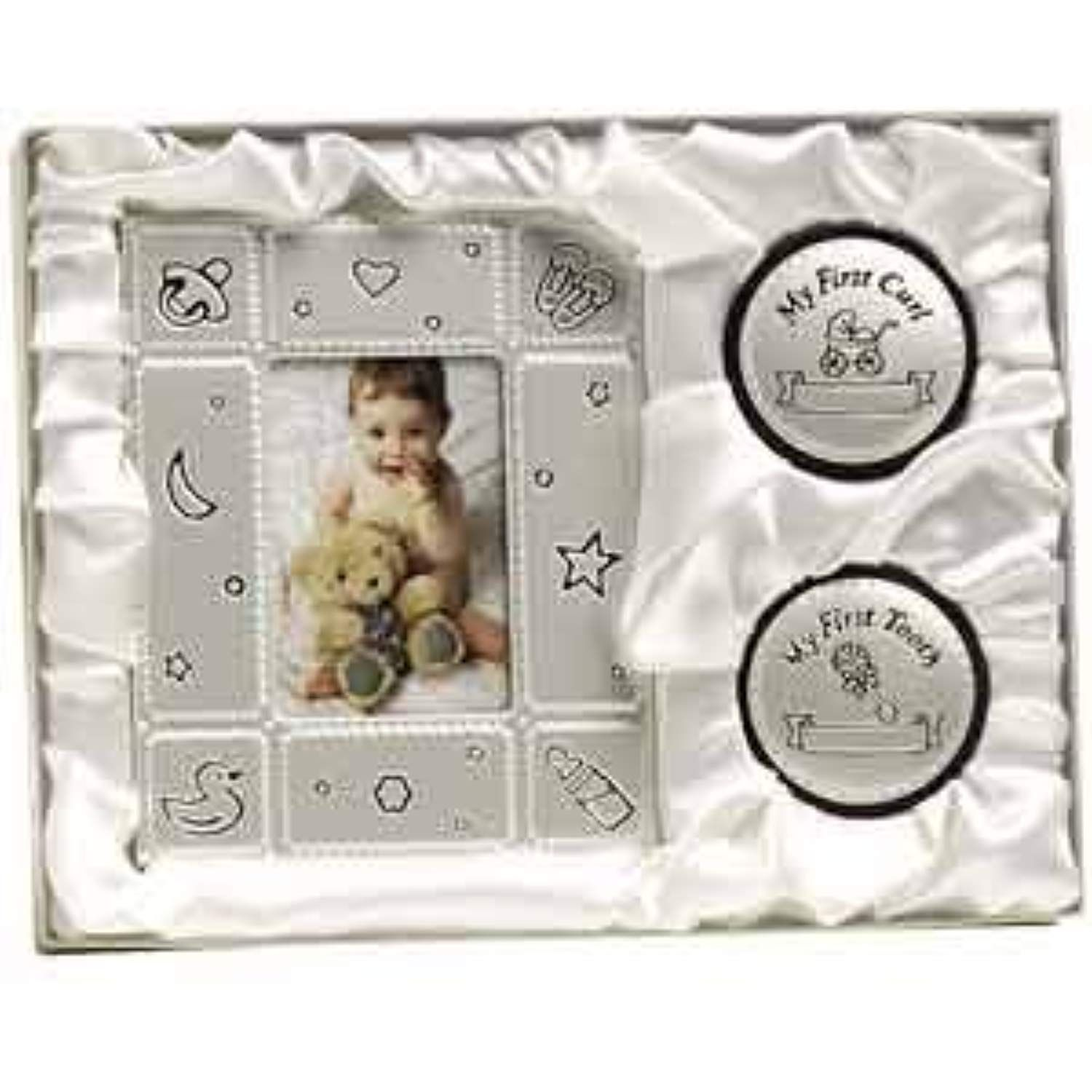 BABY PHOTO FRAME  MY FIRST CURL TOOTH BOX GIFT SET BIRTH SHOWER CHRISTENING NEW