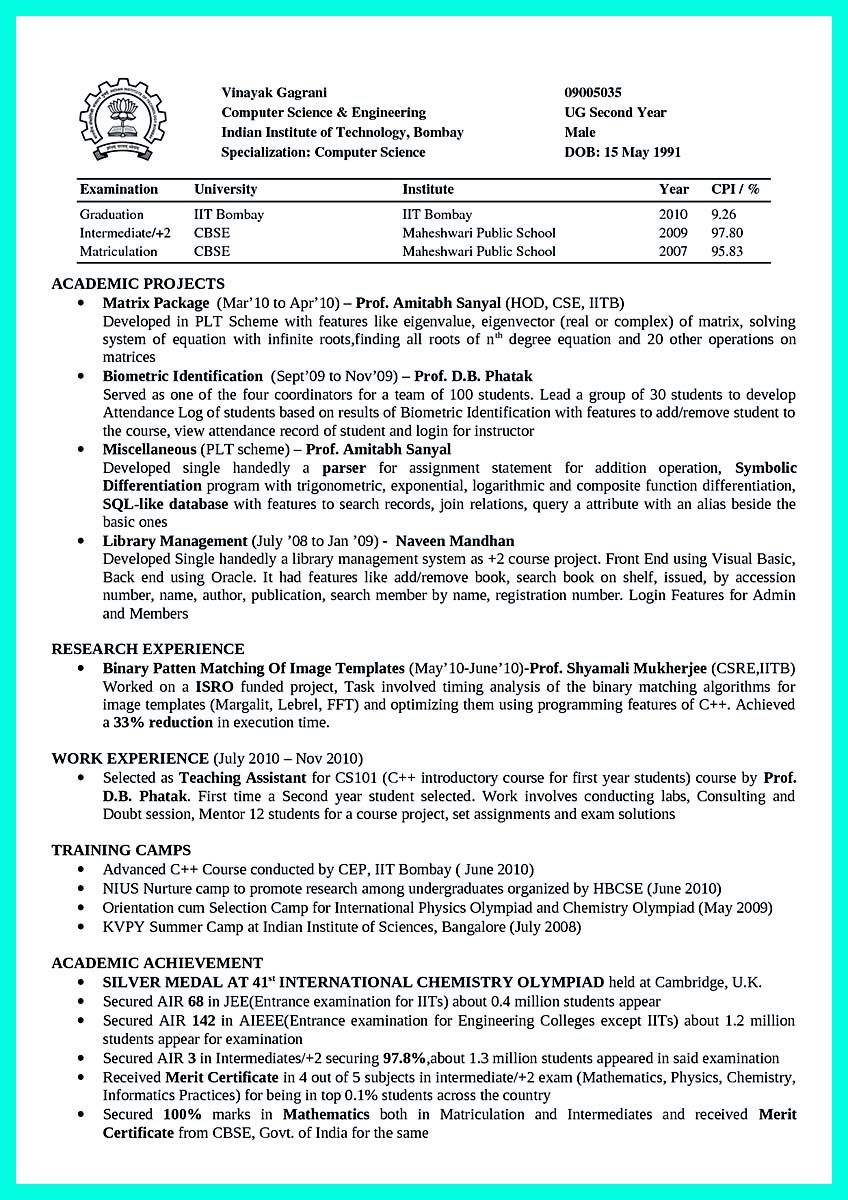 Cool The Perfect Computer Engineering Resume Sample To Get Job Soon Check More At Http Snef Computer Science Computer Science Engineering Engineering Resume