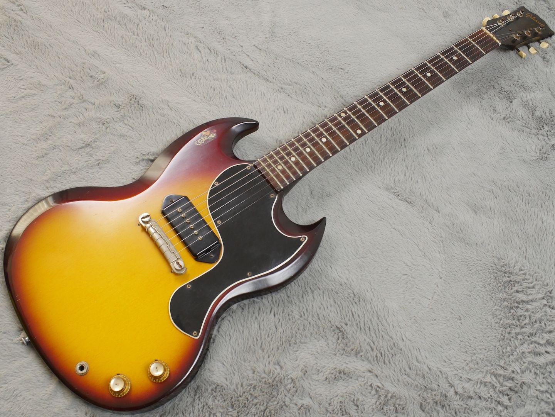 1962 Gibson Les Paul SG Junior Sunburst - ATB Guitars #gibsonlespaul