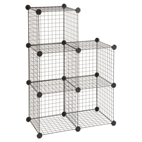 Wire Shelving Unit Wire Cubes Safco Storage Shelves Vertical ...