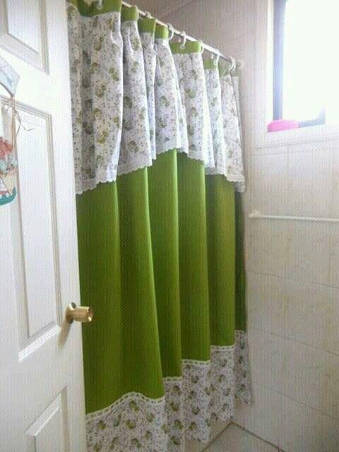 Cortina para baño | D\' Cynthia Creaciones | Pinterest | Cortinas ...