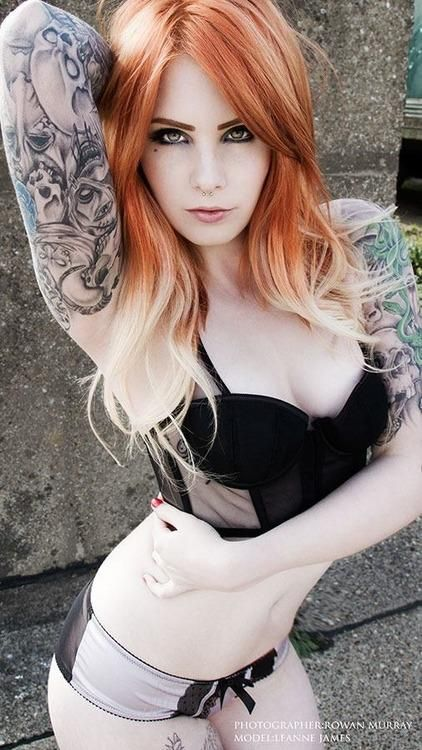 Sexy redheads with tattoos