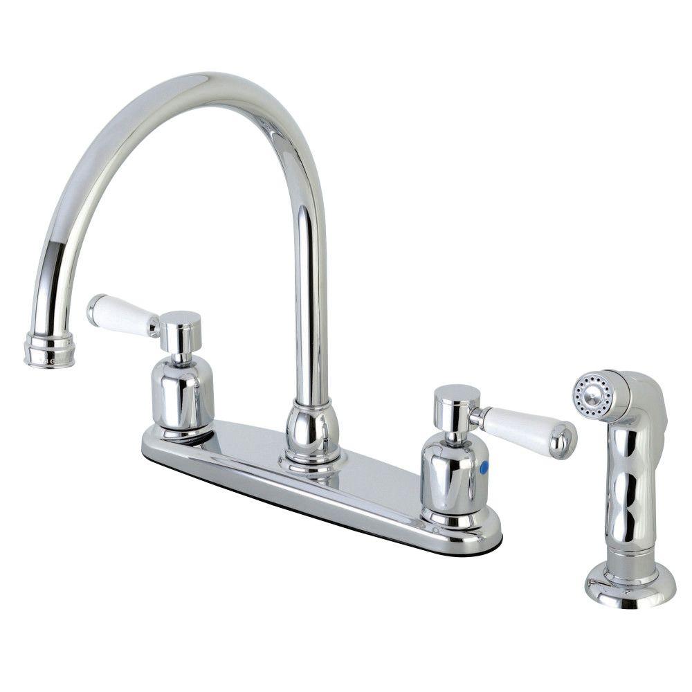 fb791dplsp centerset kitchen faucet polished chrome kingston rh pinterest com